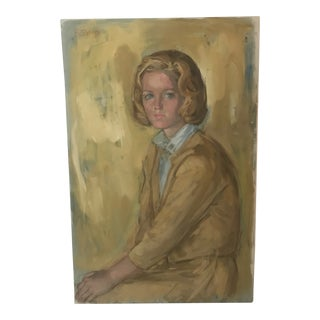 Eva Sikorski 1962 Portrait of a Young Girl For Sale