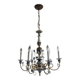 20th Century Traditional Hand Painted Chandelier For Sale
