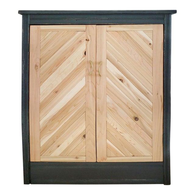 Antique Letterpress Cedar Cabinet - Image 1 of 11