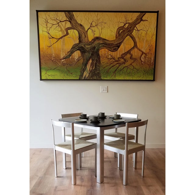 1980s Hank Loewestein Italian Dining Table & Chairs For Sale - Image 12 of 13