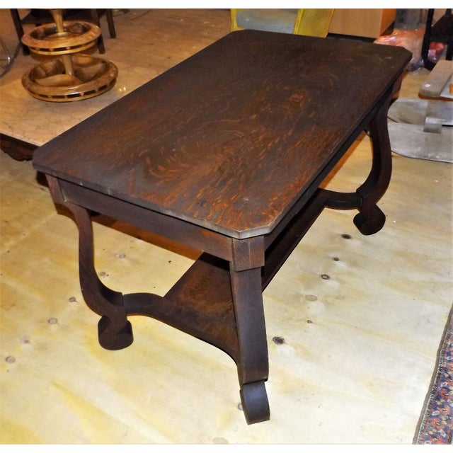 Traditional Antique Walnut Library Desk For Sale - Image 3 of 11