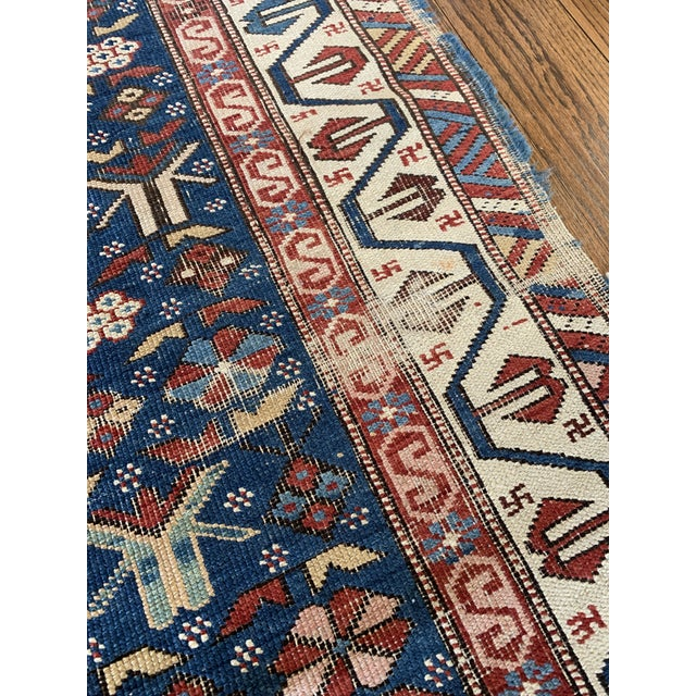 Islamic Vintage Hand Knotted Rug- 3'2 X 5'7 For Sale - Image 3 of 6