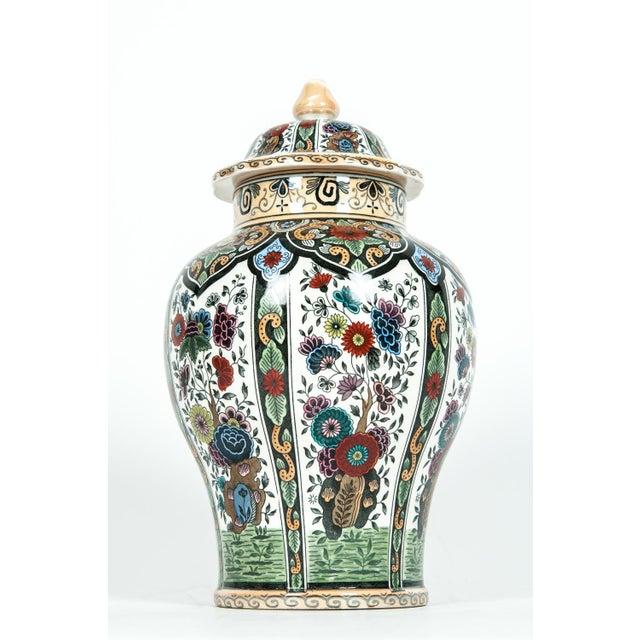 Art Nouveau Vintage Dutch Porcelain Covered Urn For Sale - Image 3 of 13