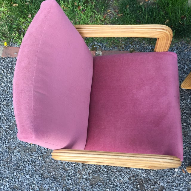 Purple Gabriella Crespi Style Pencil Reeded Velvet Chairs - a Pair For Sale - Image 8 of 13