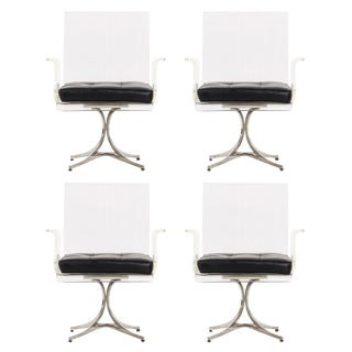 Set of Four Laverne Flower Dining or Occasional Chairs For Sale