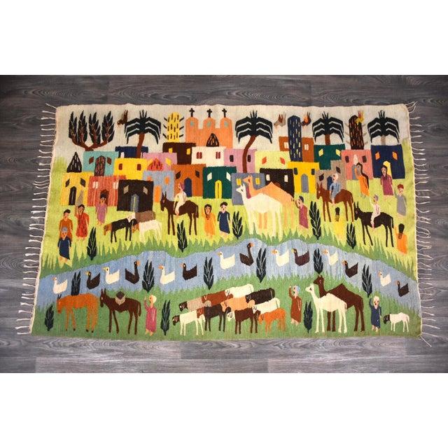Handmade Wool Kilim Tapestry Rug For Sale - Image 10 of 10