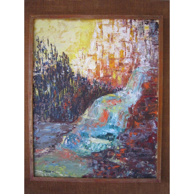 J. Mader Signed Mid Century Painting - Image 3 of 7