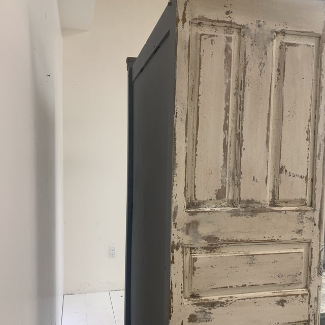 Antique White Early 19th Century Antique French Armoire For Sale - Image 8 of 11