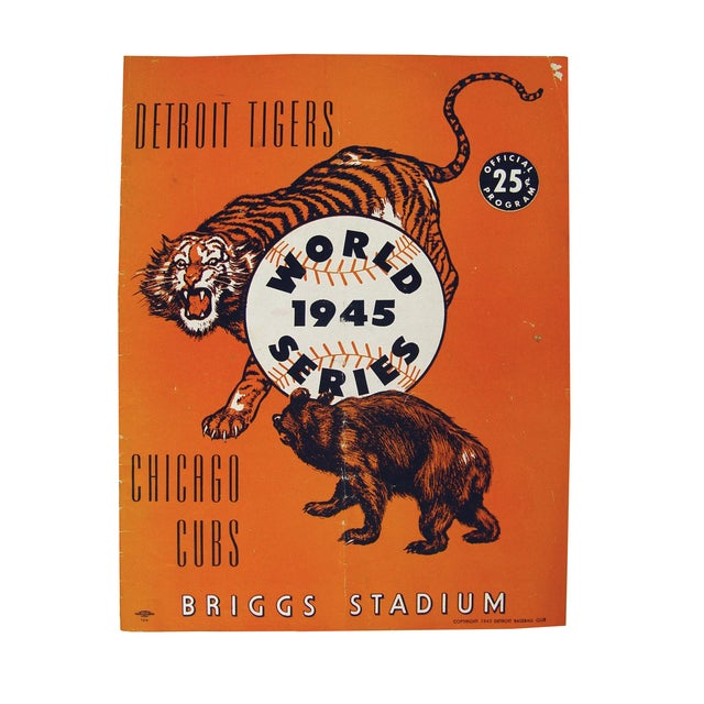 Vintage World Series Tigers & Cubs Program Book For Sale