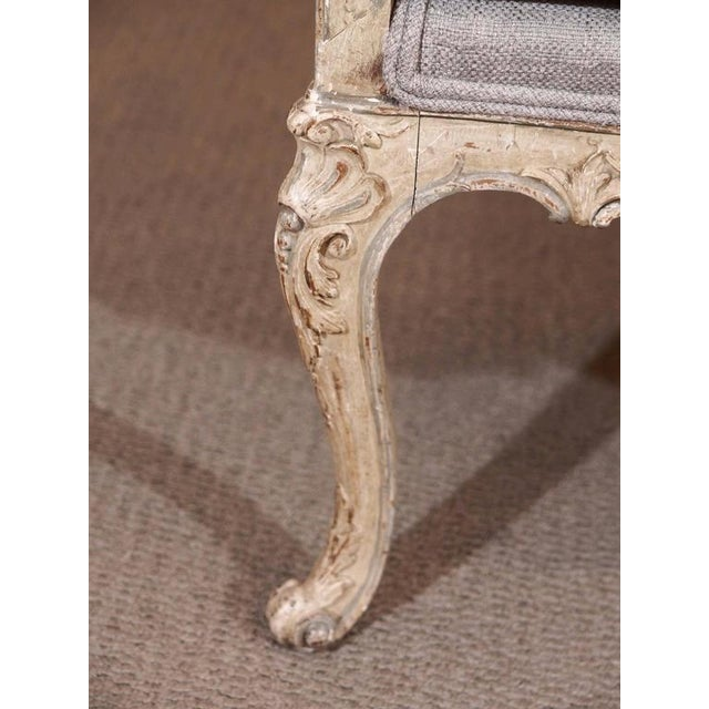 Late 19th Century Antique French rococo grissaile Sofa For Sale - Image 5 of 7