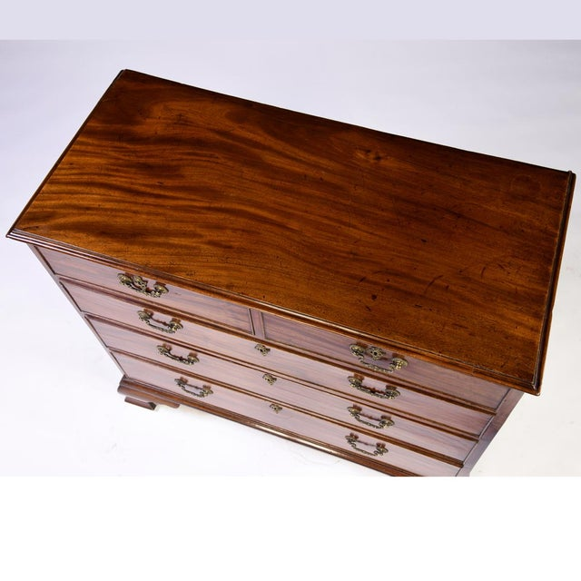 Chippendale Antique 1780s English Mahogany Chippendale Chest For Sale - Image 3 of 4