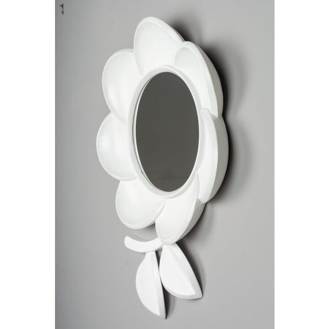 Mid-Century Modern Mid Century Modern Pop Art Flower Mirror For Sale - Image 3 of 9