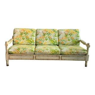 Vintage Faux Bamboo Sofa