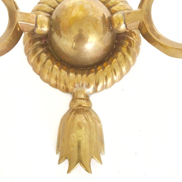 Brass Two Arm Sconces- Pair - Image 9 of 9