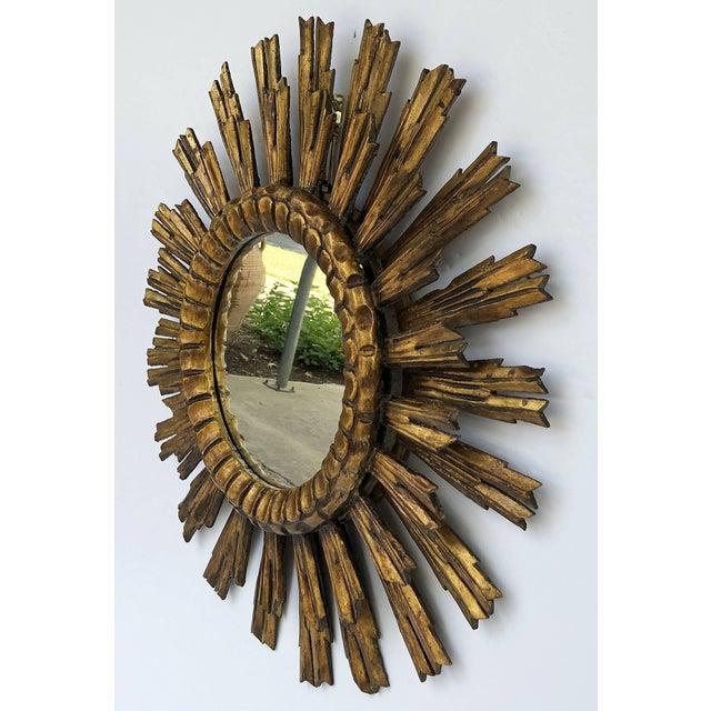 French French Gilt Starburst or Sunburst Mirror (Diameter 24) For Sale - Image 3 of 9