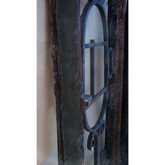 Wrought Iron Door Transom Window For Sale - Image 4 of 6