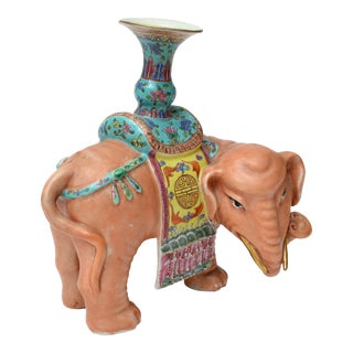 Chinese Elephant Sculpture, Signed