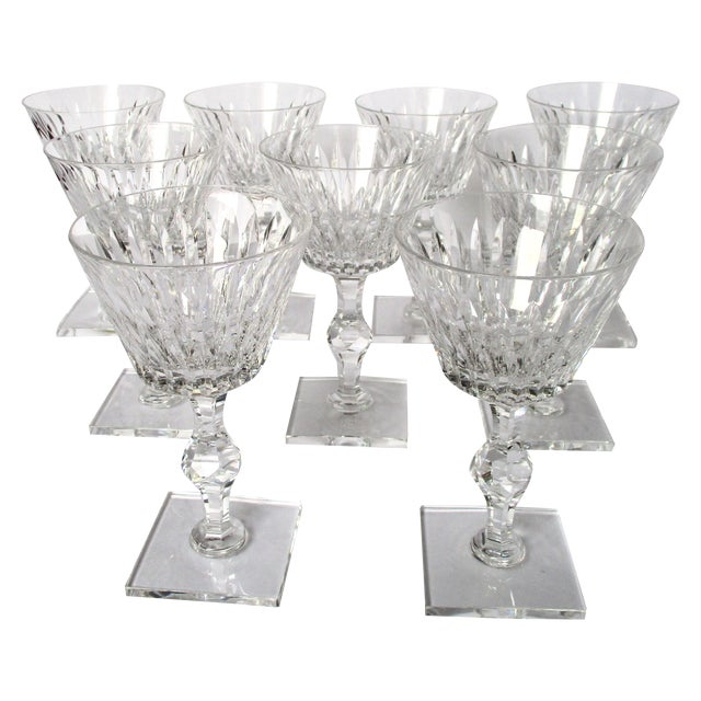 Hawkes Champagne/Sherbet Crystal Stems - Set of 9 For Sale