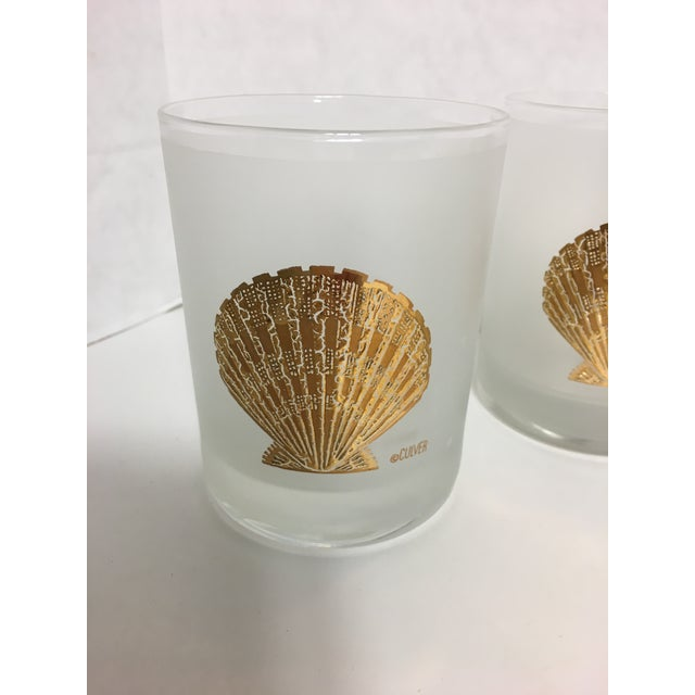 Nautical Culver Seashell Glasses - Set of 6 For Sale - Image 3 of 3