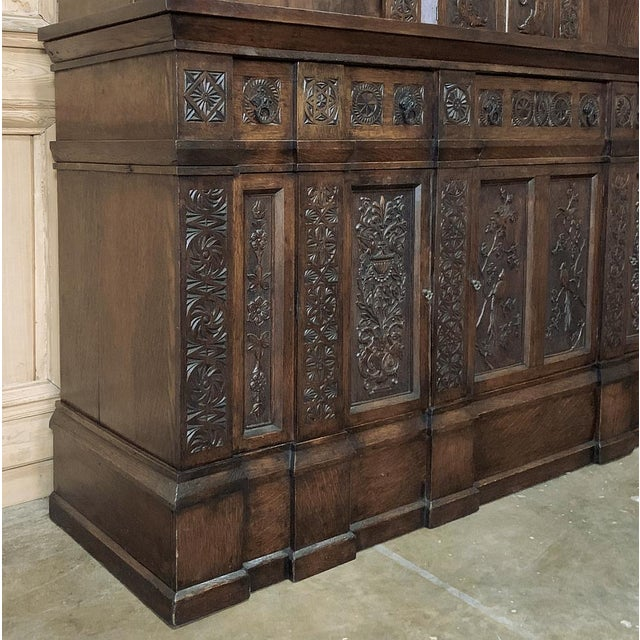 Wood 19th Century Renaissance Bookcase For Sale - Image 7 of 13