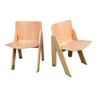 Vintage Molded Plywood Chairs - a Pair