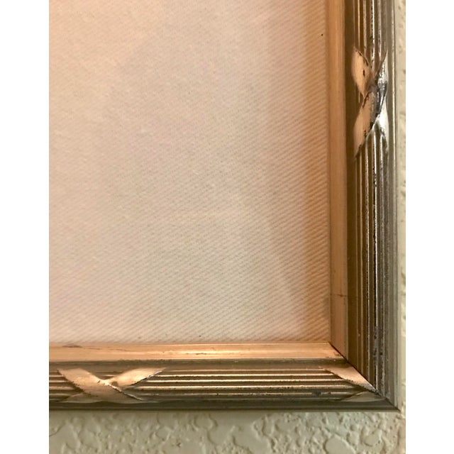 Contemporary Small Matted Painting #4 With Silver Leaf Frame by Allen Kerr For Sale - Image 3 of 4