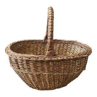 Vintage European Market Basket For Sale