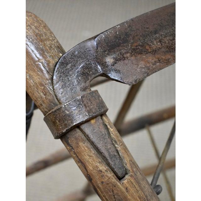 Brown Antique Ash Cradle Scythe For Sale - Image 8 of 10