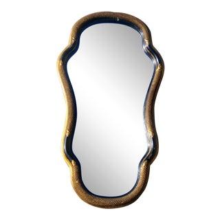 Antique Italian Ebonized Serpent Mirror
