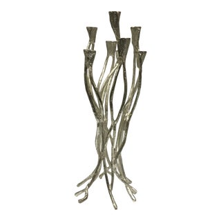 Contemporary Aluminium Brutalist Branch Candle Holder For Sale