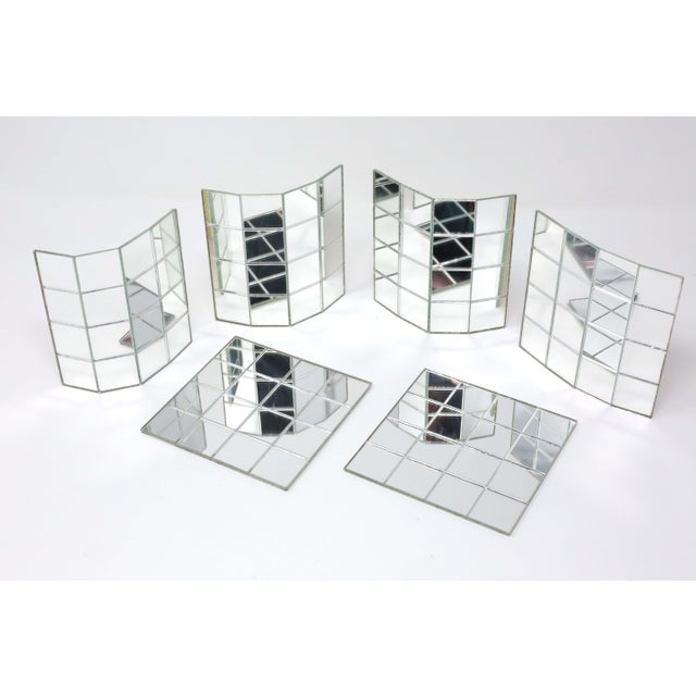 1960s Vintage Mirror Mat Beverage Coasters - Set of 6 - 4 Available For Sale - Image 5 of 9