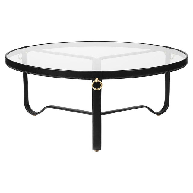 Mid-Century Modern Mid-Century Modern Gubi Adnet Leather Coffee Table in Black For Sale - Image 3 of 3