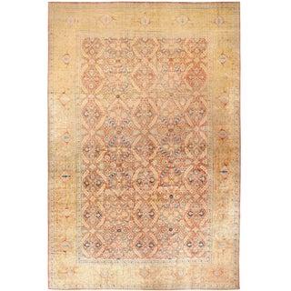 Extra Large Antique Persian Silk Tabriz Rug by Haji Jalili - 15′10″ × 24′7″ For Sale