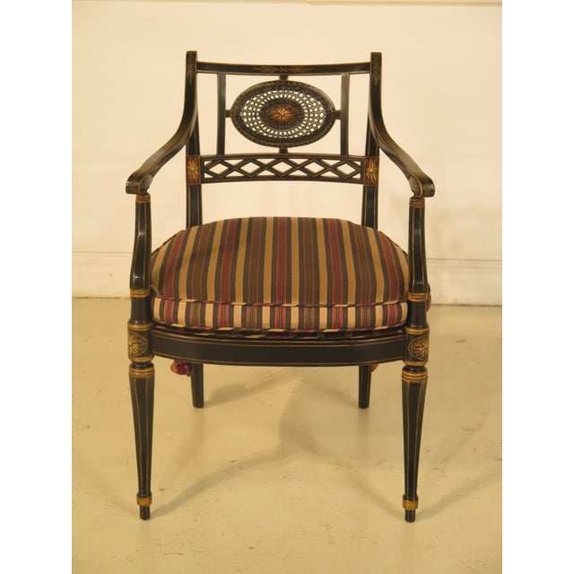 Smith & Watson Regency Decorated Armchairs - A Pair - Image 3 of 11