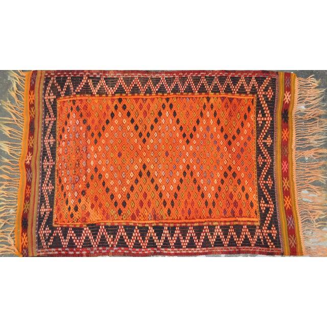 "Vintage Turkish Anatolian Hand Made Organic Wool Natural Color Kilim,2'6""x3'9"" For Sale - Image 4 of 4"