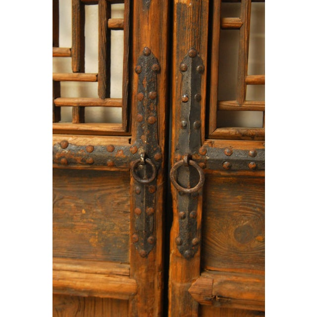 Chinese Lattice Panel Doors - Set of 4 For Sale In San Francisco - Image 6 of 10