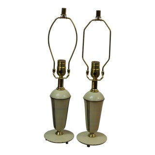 Chase Boudoir Table Lamps - a Pair For Sale