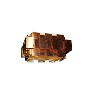 Robert Sonneman Copper Brutalist Mid-Century Modern Light Fixture