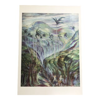 """Paisaje Criollo"" Lithograph by Carlos Enriquez For Sale"