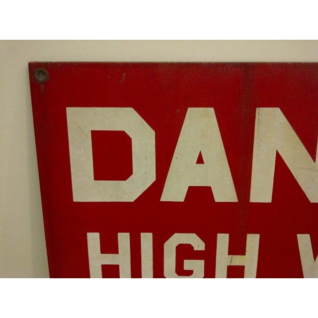"""Vintage Porcelain Sign """"Danger High Voltage Keep Away"""" - Image 3 of 6"""