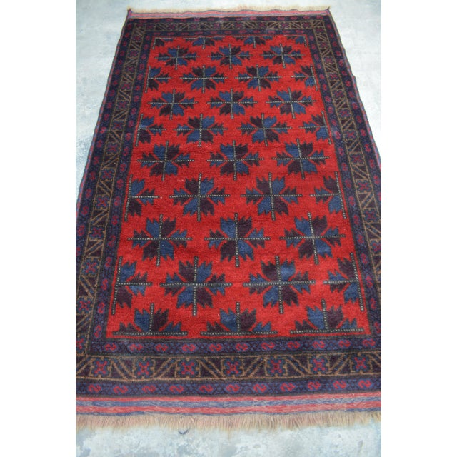 This beautiful Vintage rug will add a stunning design accent to your home. This is made by 100% wool and tightly hand...