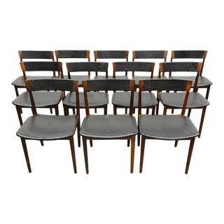 Set of Twelve Henry Rosengren Hansen Rosewood Dining Chairs For Sale