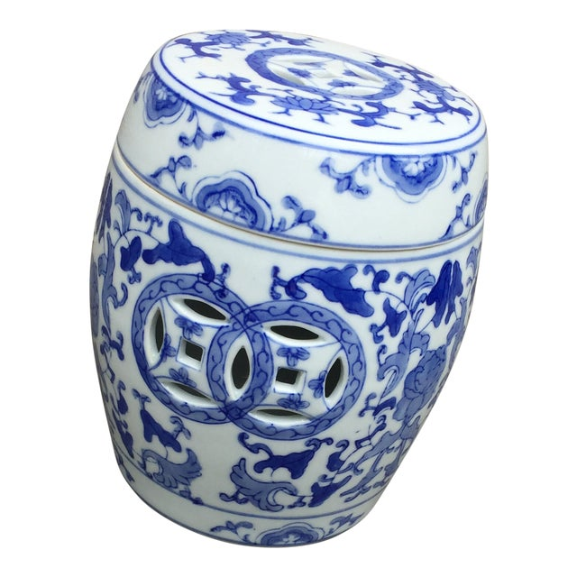 1960's Vintage Chinoiserie Garden Seat or Ginger Jar For Sale