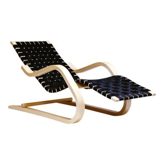 Lounge Chair 43 in Birch and Black by Alvar Aalto & Artek For Sale