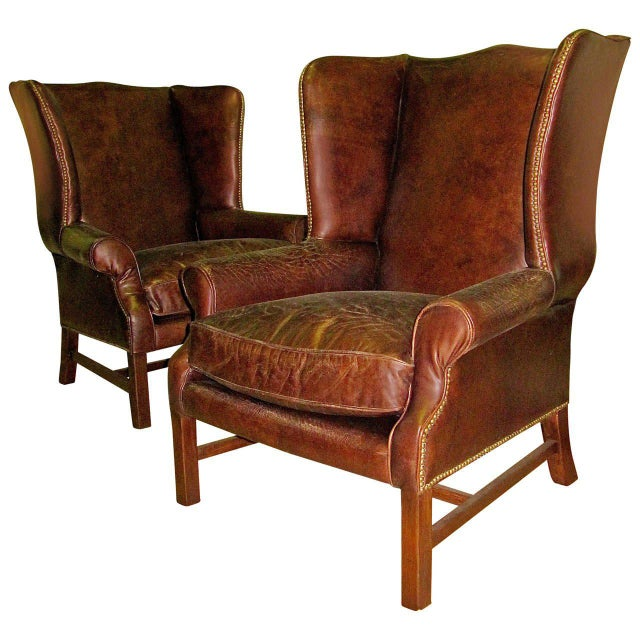 Incredible Two George III Style Wingback Chairs With ...