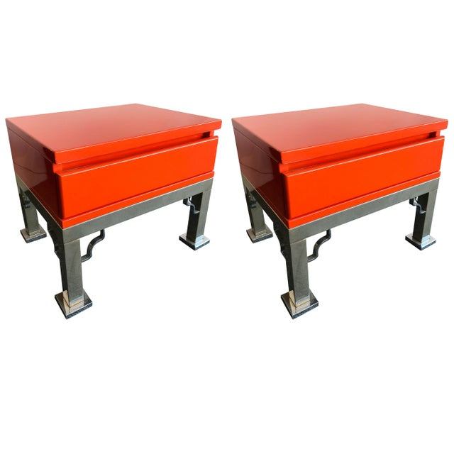 Pair of Lacquered Side Tables by Dal Vera, Italy, 1980s For Sale - Image 12 of 12