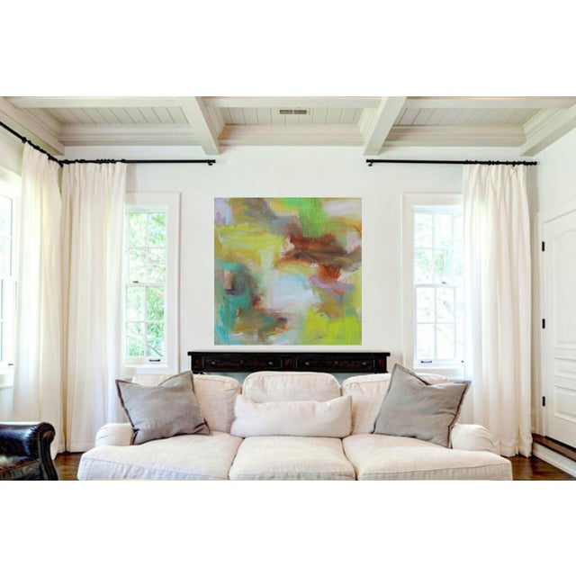 "Canvas ""Appalachian Spring"" Large Abstract Expressionist Oil Painting For Sale - Image 7 of 13"