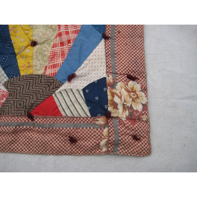 Pink 19th Century Antique American Quilt For Sale - Image 8 of 9