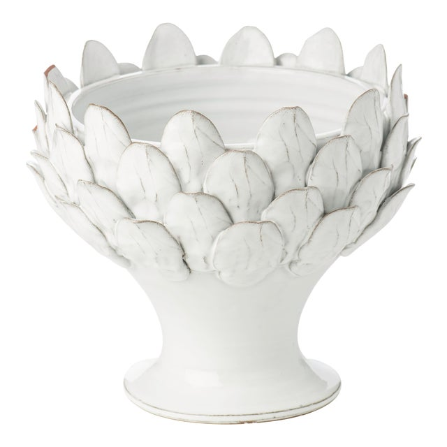 White Artichoke Footed Centerpiece For Sale