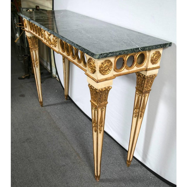 Italian Paint Decorated Marble-Top Console For Sale - Image 4 of 6